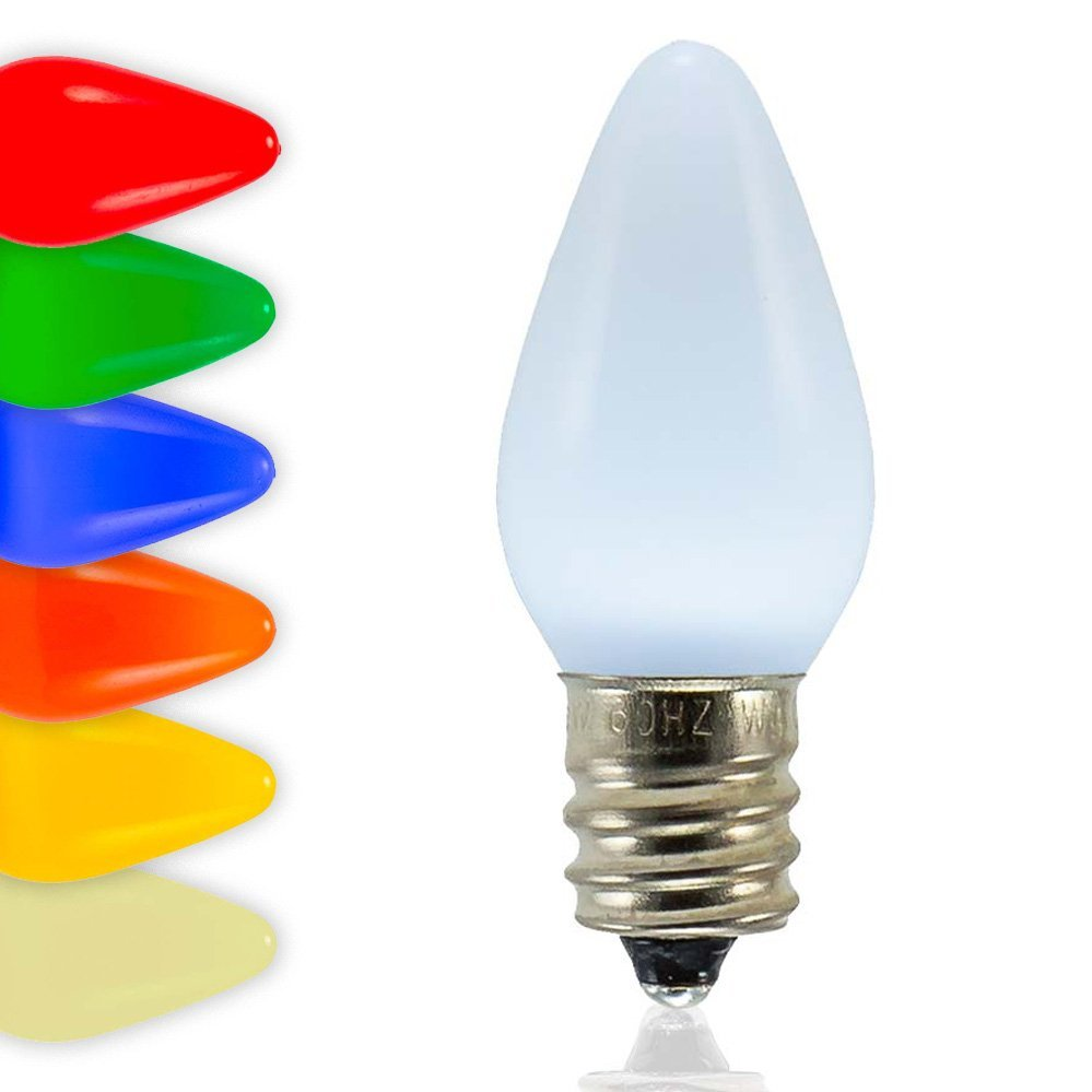 C7 SMD LED Bulbs - Frosted Smooth