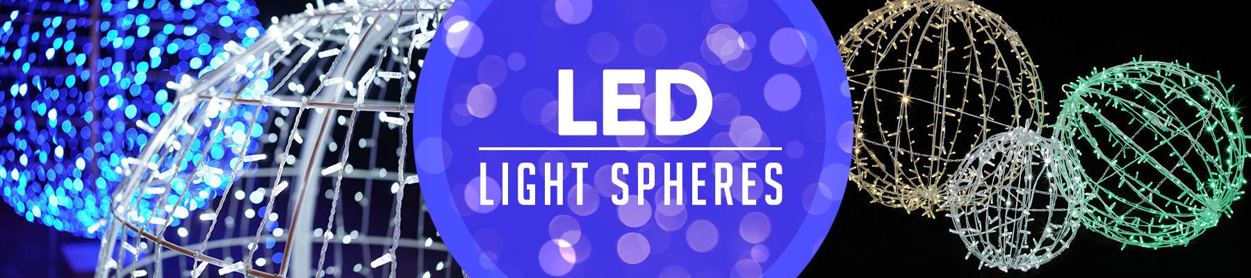 Foldable LED 3D Spheres