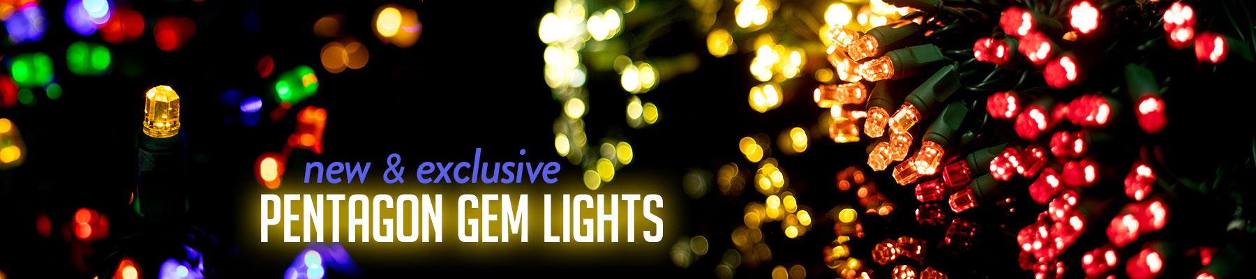 Pentagon Gem LED Lights