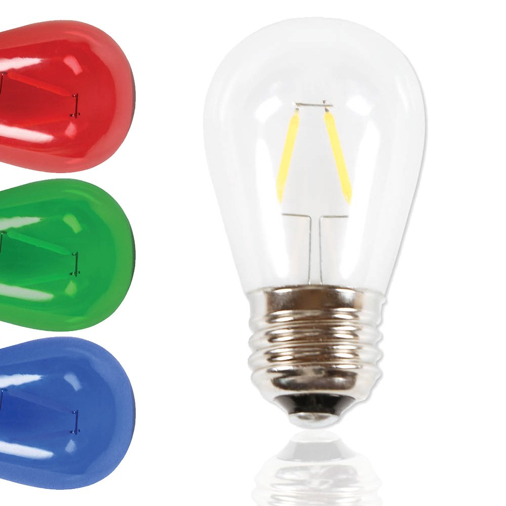 S14 LED Filament Glass Bulbs