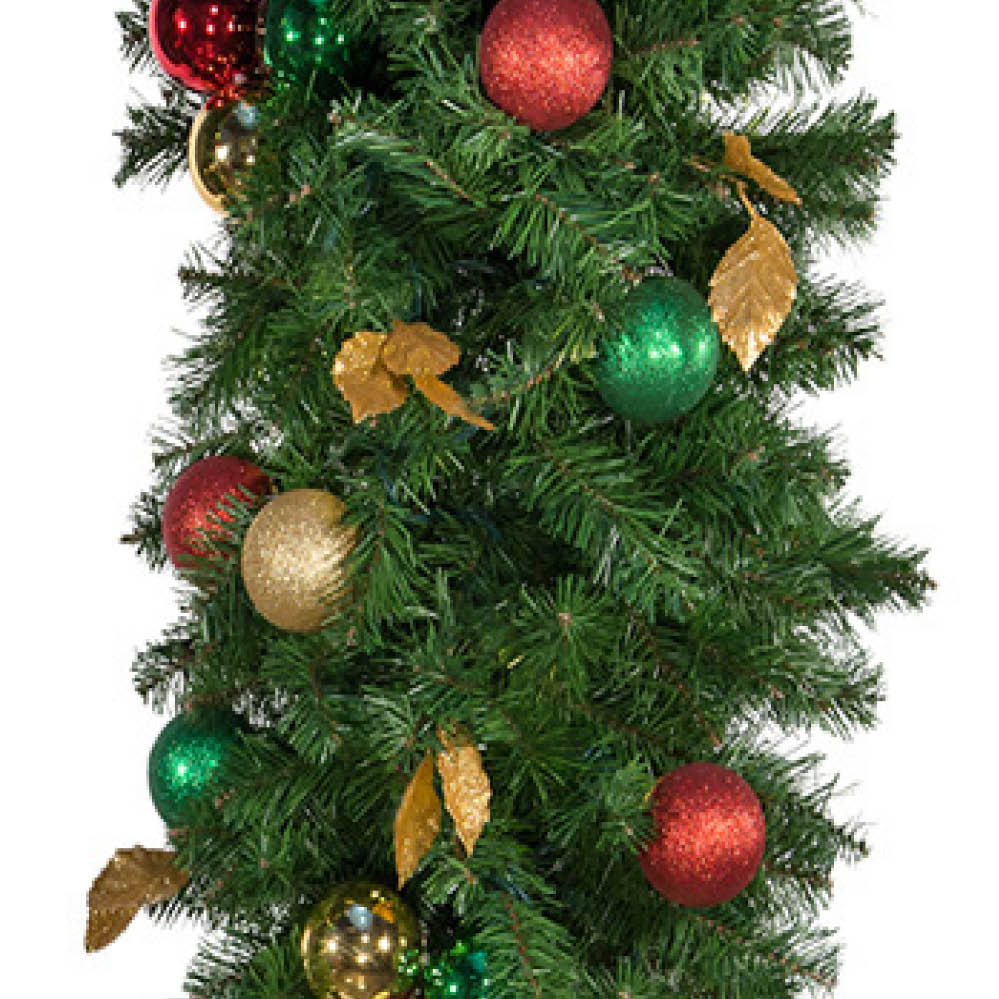 Commercial Unlit Decorated Garland