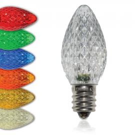 C7 SMD LED Bulbs - Faceted Twinkle - Latest Generation LED Bulbs