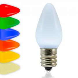 C7 SMD LED Bulbs - Frosted Smooth - Latest Generation LED Bulbs