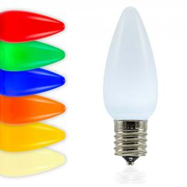 C9 SMD LED Bulbs - Frosted Smooth - Latest Generation LED Bulbs