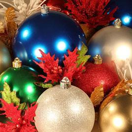 Round Christmas Clearance Ornaments