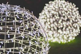 LED Commercial Grade Foldable 3D Spheres