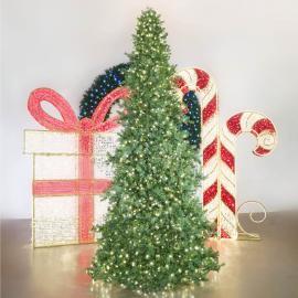 Majestic Slimline Christmas Tower Tree