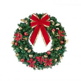Unlit Decorated Wreaths