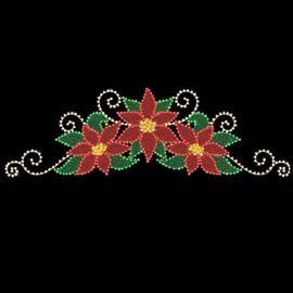 Christmas Poinsettia Spray