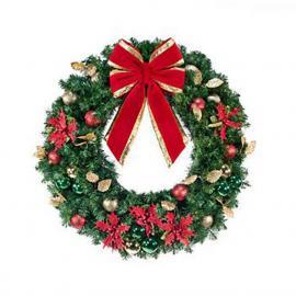 Commercial Unlit Decorated Wreaths