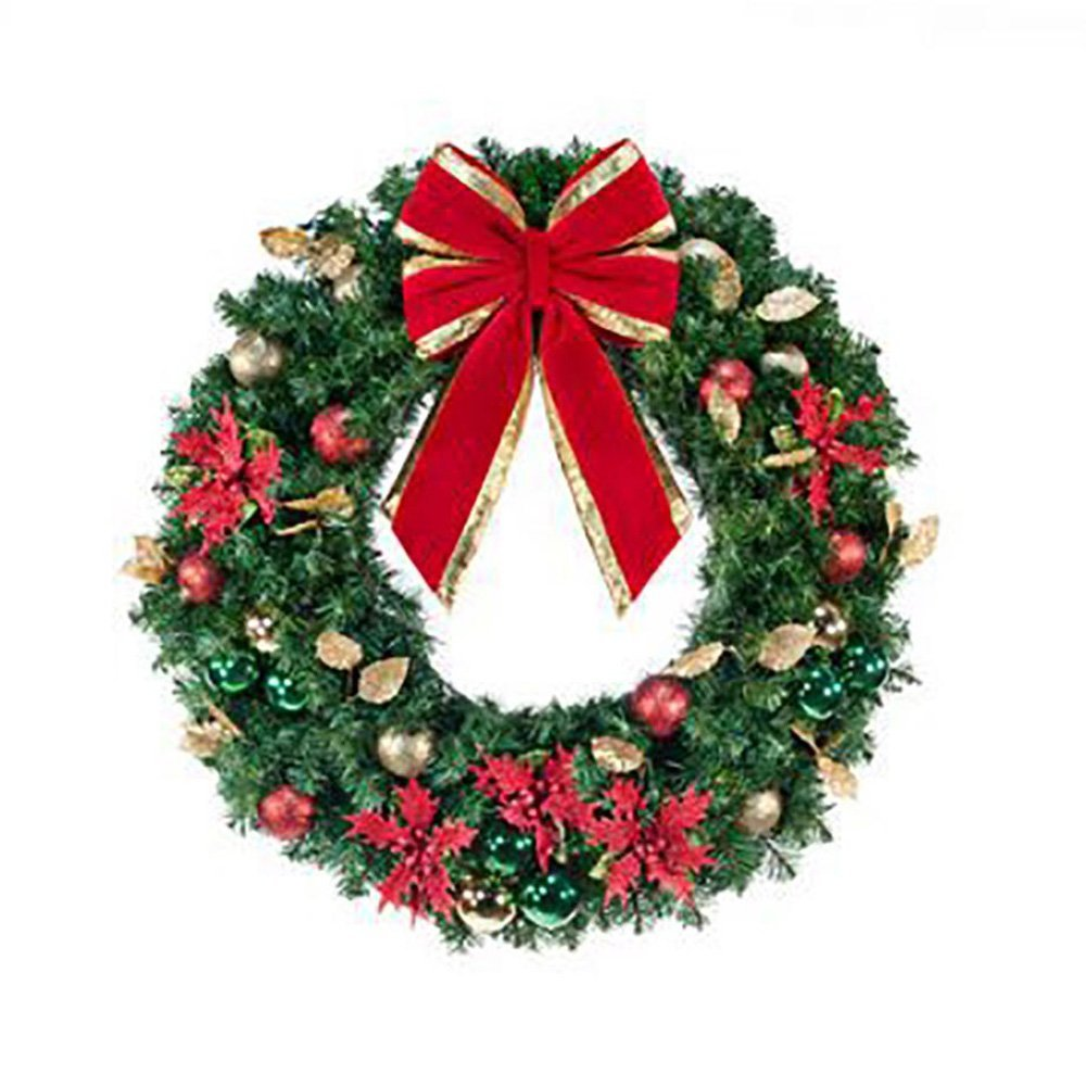 Unlit Decorated Wreath