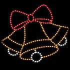 9' Silhouette Triple Bells w/ Bow, LED