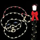 4' Silhouette Jolly Santa, LED