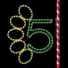 7' Five Gold Rings, LED