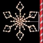 5 1/2' Silhouette Crystal Snowflake, LED