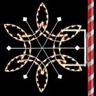 6' Silhouette Fantasy Snowflake, LED