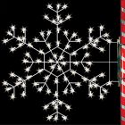 5' Silhouette Cascade Snowflake, LED