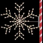 4' Silhouette Arctic Snowflake, 2, LED