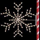 4' Silhouette Arctic Snowflake, 2, LED