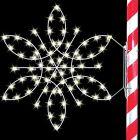 4' Silhouette Fantasy Snowflake, LED