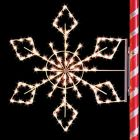 4' Silhouette Crystal Snowflake, LED
