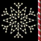 5' Silhouette Arctic Star Snowflake, LED