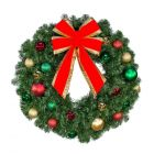 "24"" Decorated Wreath, Colors of the Holidays, Unlit"
