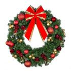 """24"""" Decorated Wreath, Ringing in the Holidays, Unlit"""