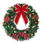 """48"""" Decorated Wreath, Elegant Poinsettia, Unlit"""