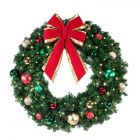 "48"" Decorated Wreath, Colors of the Holidays, Lit"