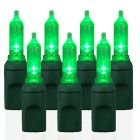 70 Light T5 Smooth Green LED Christmas Lights