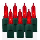 70 Light T5 Smooth Red LED Christmas Lights