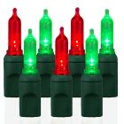 70 Light T5 Smooth Red & Green LED Christmas Lights