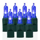 70 Light T5 Smooth Blue LED Christmas Lights