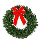 "72"" Deluxe Oregon Fir Wreath, Lit"