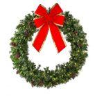 "72"" Mixed Pine Wreath, Lit"