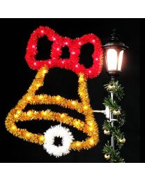 4' Bell with Bow, LED
