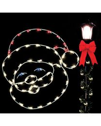 4' Silhouette Jolly Santa, LED