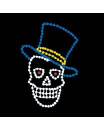 5 1/2' Animated Skull with Top Hat, LED