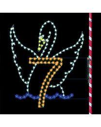 7' Seven Swans Swimming, LED