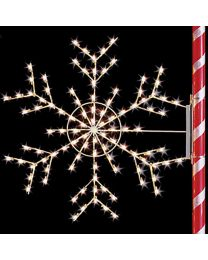 5 1/2' Silhouette Arctic Snowflake, LED