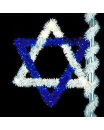 6' Star of David, LED