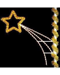 7' Shooting Star with Garland, LED