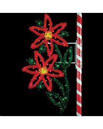7 1/2' Double Poinsettia, LED