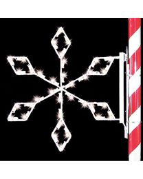 3' Silhouette Crystal Snowflake, LED