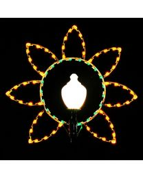 5' Silhouette Daisy Lamp Cover, LED