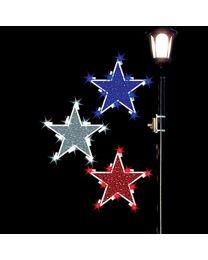 4' Glitter Mesh Stars, LED
