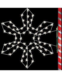 5' Silhouette Northwest Snowflake, LED