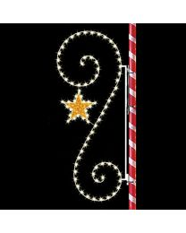 8' Classic Scroll with Star, LED