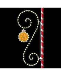 8' Classic Scroll with Ornament, LED